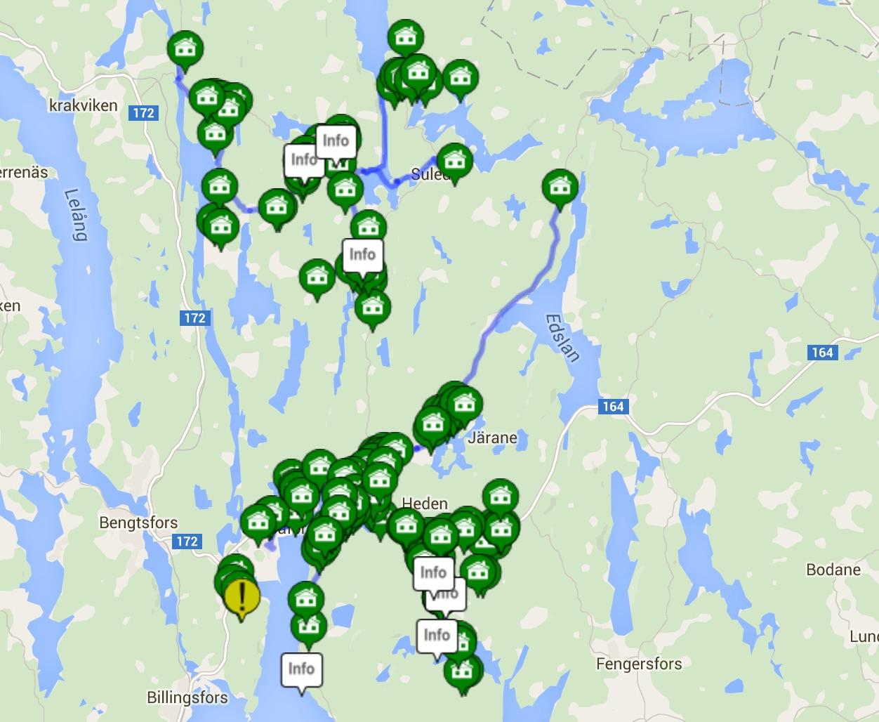Karta över Laxarby socken